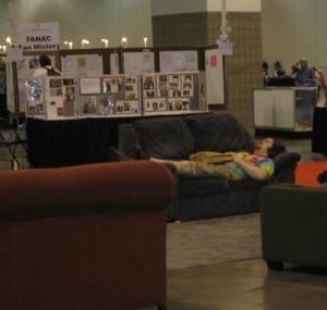 Some people can sleep anywhere....